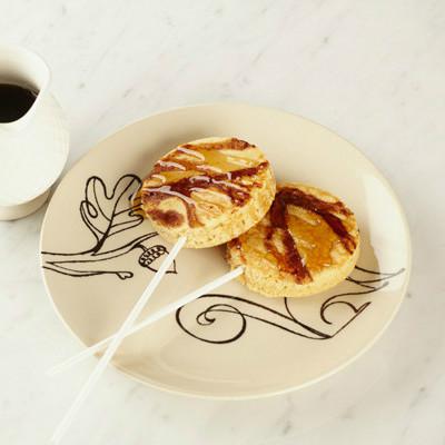 Colombinas de pancakes con vainilla