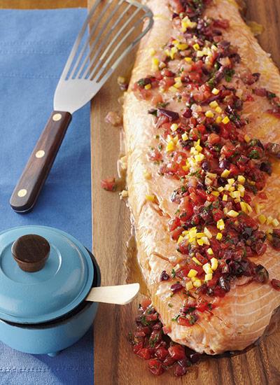 Filete de salmón Mediterráneo