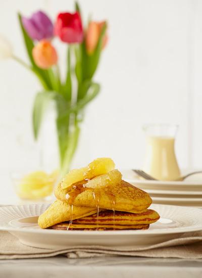 Pancakes de ahuyama y avena