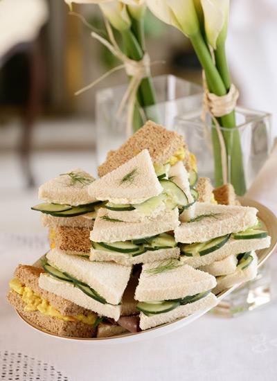 Sándwiches de pepino