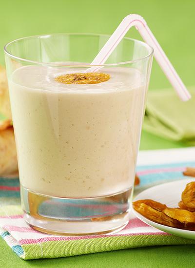 Smoothie de banano con helado de vainilla
