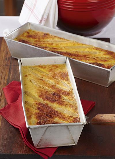 Soufflé de espárragos con queso parmesano