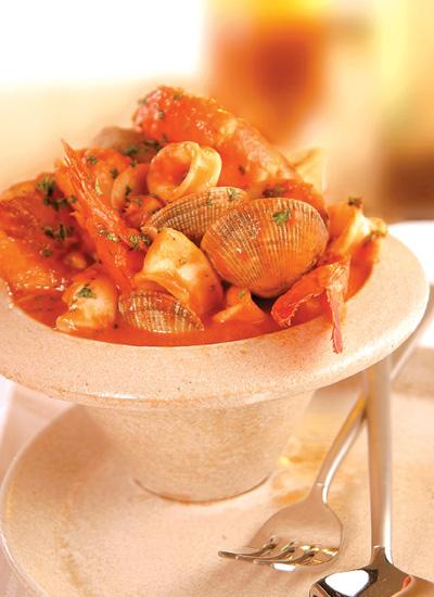 Suquet de pescados y mariscos