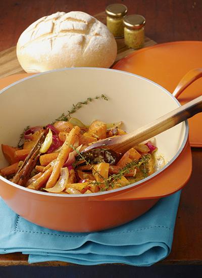 Zanahorias especiadas con crema cítrica