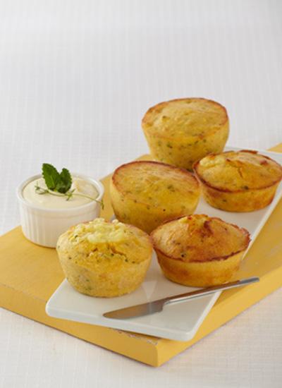 Muffins de maíz con centro de queso