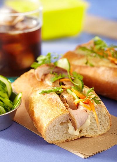 Sándwich  vietnamita de cerdo y mayonesa